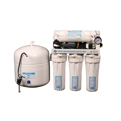 6-Stage Reverse Osmosis with boosterpump