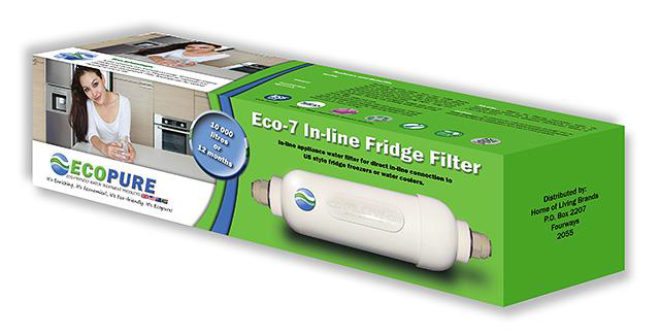 Eco-7 In-Line Fridge Water Filter